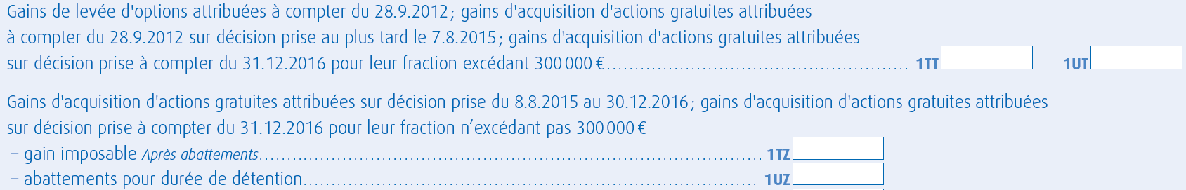 Declaration Des Gains De Stock Options Et D Actions